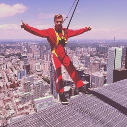 That moment when you're hanging 356m above the ground and actually DO feel superhuman. #Superhuman #Toronto