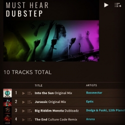 Thanks Beatport for the plug on the Dubstep main page! Congrats to my boy @culturecodeuk who's mix of my choon