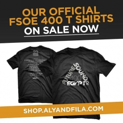Brand new @alyandfila​ t-shirt to celebrate the #FSOE400 tour. Make sure you get your order in ASAP as the early-bird price won't hang around for long!Shop.alyandfila.comPlease note: shipping starts July 29th