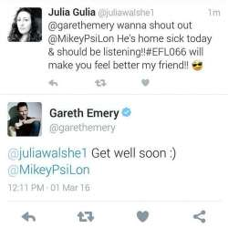 I got a shout out from @garethemery thanks to my #FestieBestie Julia! #electricforlife